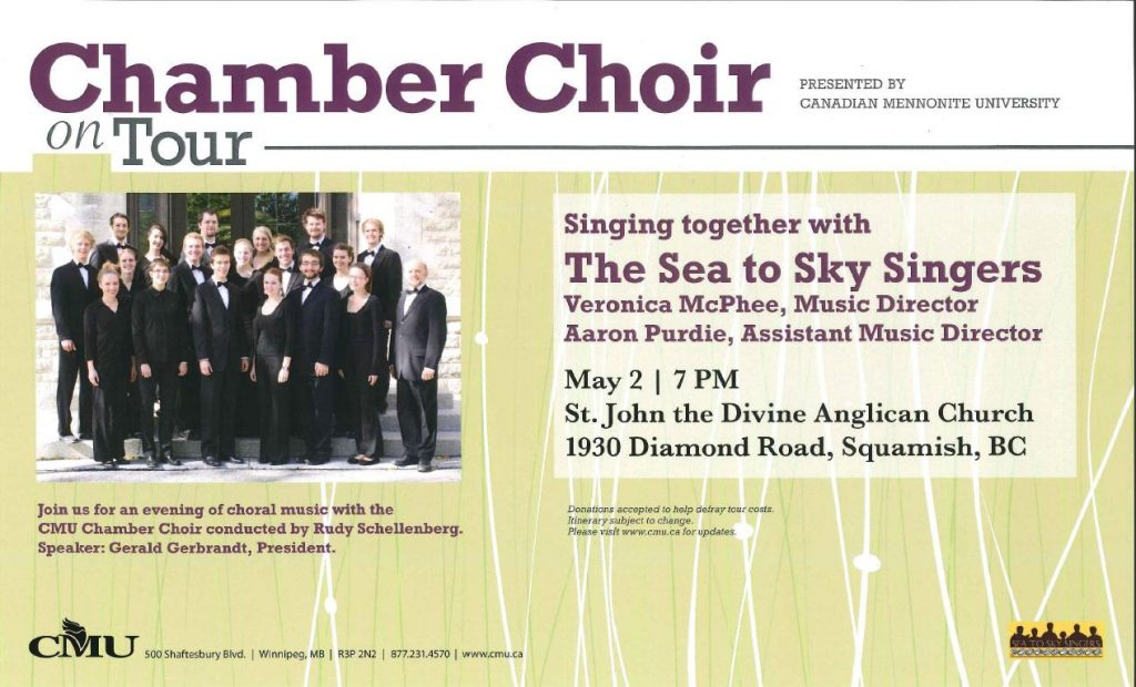 Chamber Choir on Tour